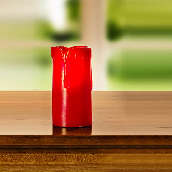 LED-Kerze rot, Höhe 10 cm