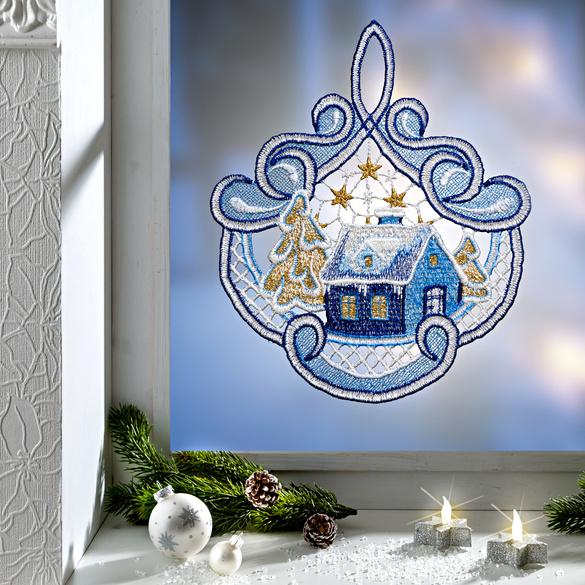 """Fenster-Deko """"Weihnachtsdorf"""""""