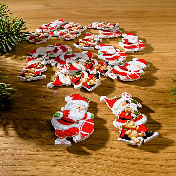 """Streudeko """"Weihnachtsmänner"""", 12-tlg."""
