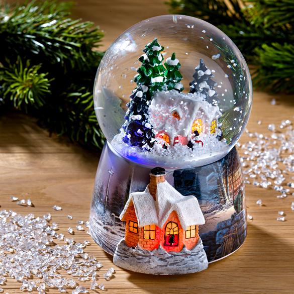 LED-Spieluhr mit Schneekugel