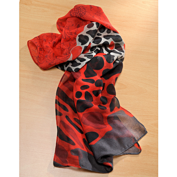 Schal rot-schwarz