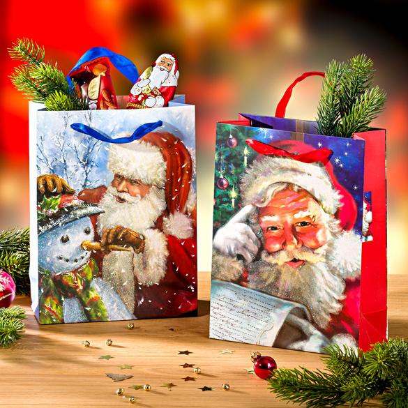 """Geschenktaschen """"Weihnachtsmann"""", 2er-Set"""