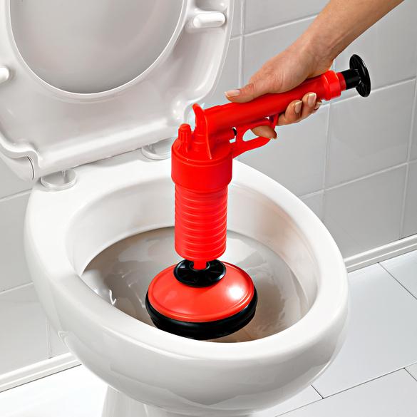 Abfluss-Reinigerpumpe rot