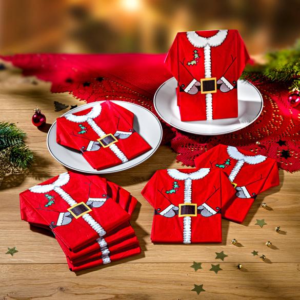"""Servietten """"Weihnachtsmann"""" vorgefaltet, 8er-Set"""
