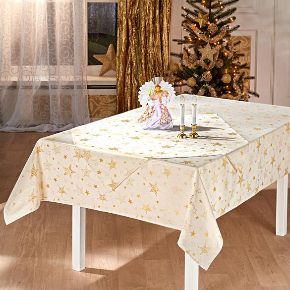 """Tischdecke """"Sterne"""" creme, 130 x 160 cm"""