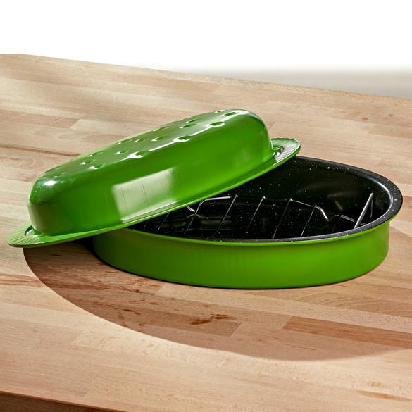 Schmortopf grün, 26 x 18,5 cm
