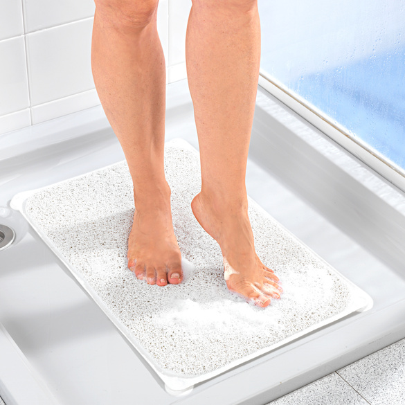 Duschmatte weiß
