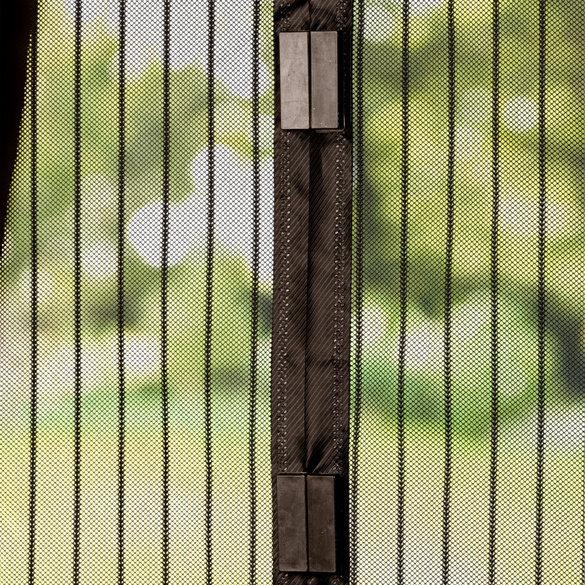 Insektenvorhang mit Magnet, schwarz
