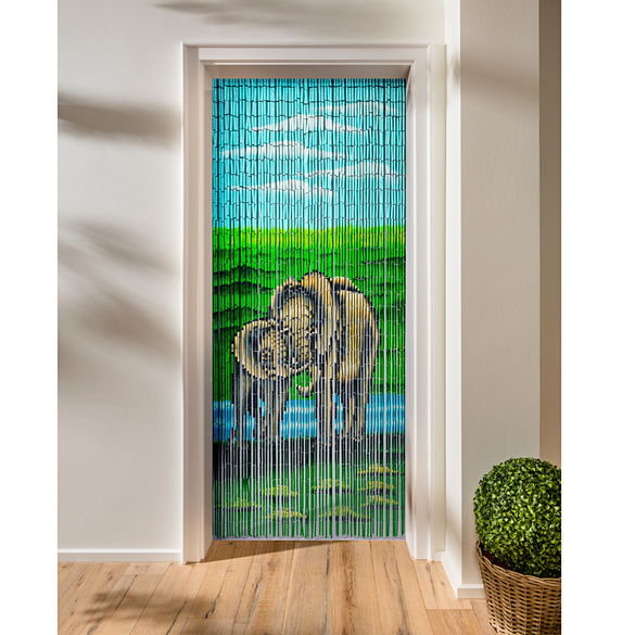 "Bambus-Vorhang ""Elefanten"""
