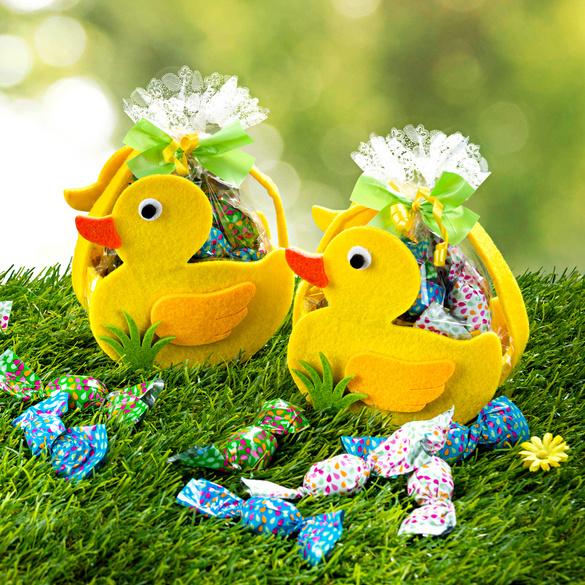 """Geschenktäschchen """"Ente"""" gefüllt"""