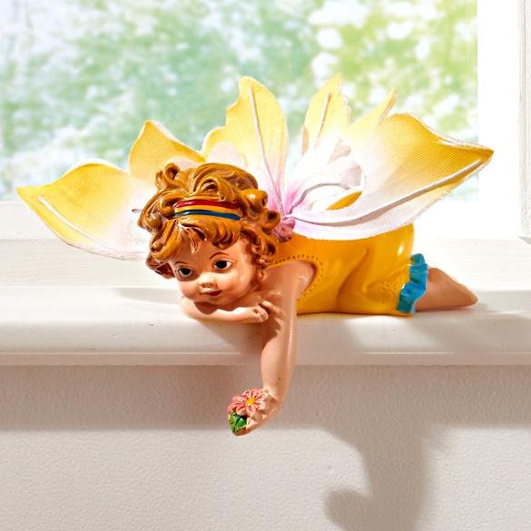 """Kantensitzer """"Schmetterlingselfe gelb"""