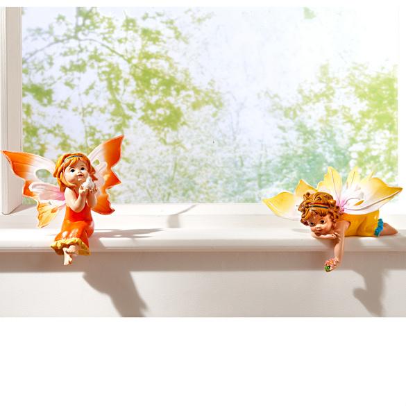 """Kantensitzer """"Schmetterlingselfe"""" orange"""