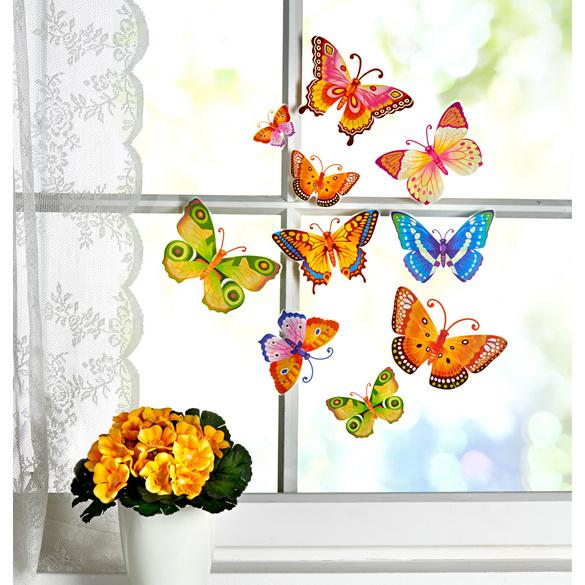 """Fensterbild """"Schmetterlinge"""", 10-tlg."""