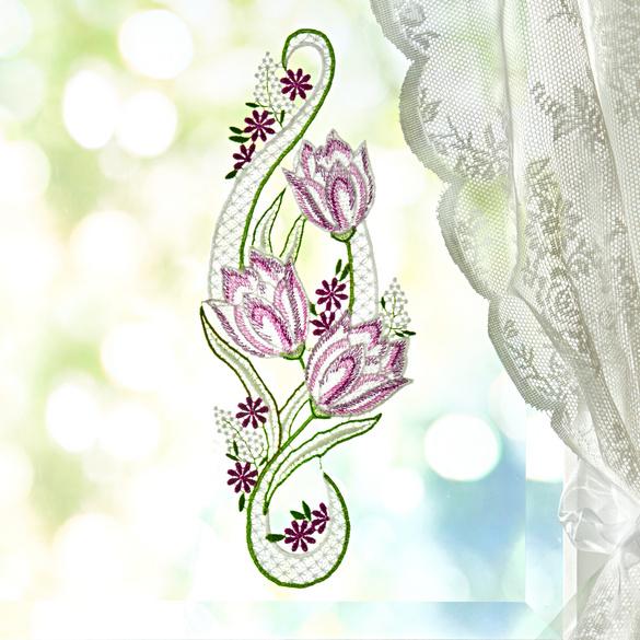 """Fensterdeko """"Tulpen"""""""
