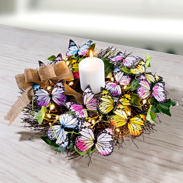 "LED-Kranz ""Schmetterlinge"""