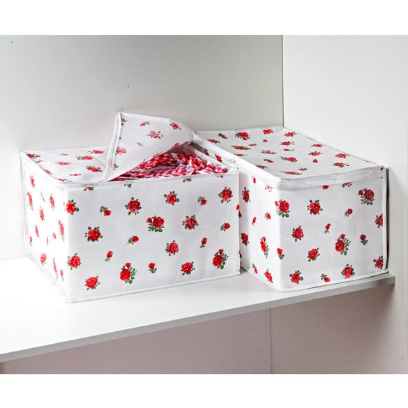 """Ordnungsboxen """"Rosen"""", 2er-Set"""