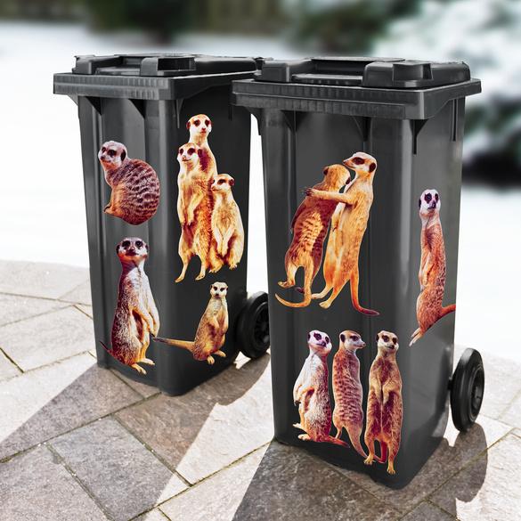 "Mülltonnenaufkleber ""Erdmännchen"""