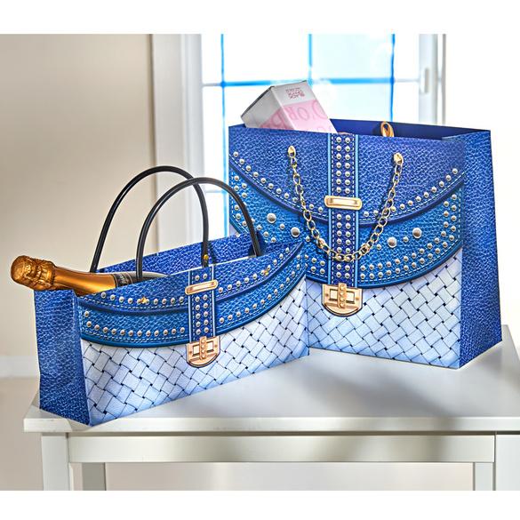 Geschenktaschen blau, 2er-Set