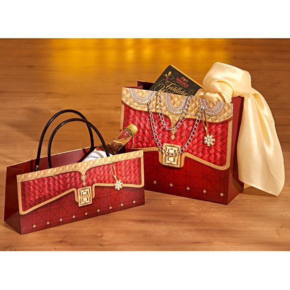 Geschenktaschen bordeaux, 2er-Set