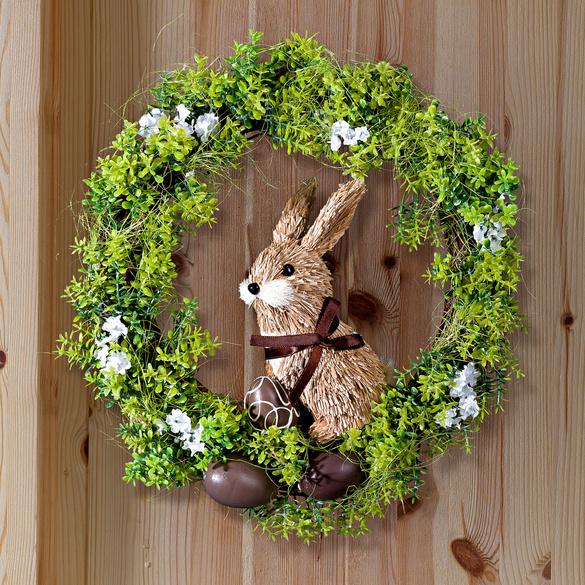 Blumenkranz mit Hase