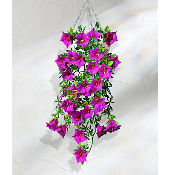 Hängepetunien lila