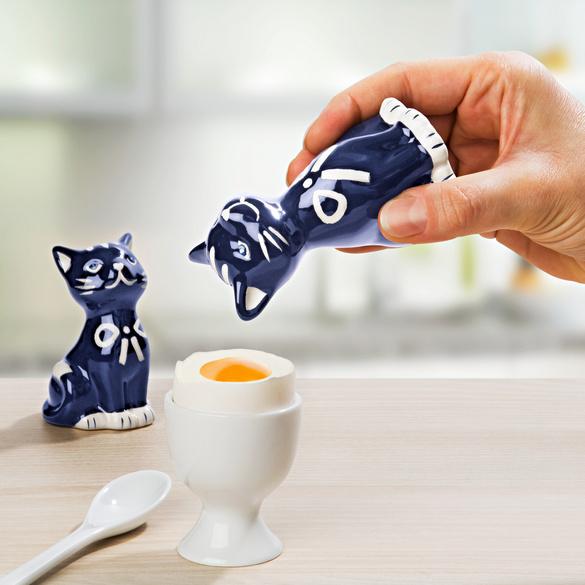 """Salz- und Pfefferstreuer """"Katzen"""" nachtblau, 2er-Set"""