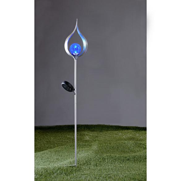 """Solarleuchte """"Flamme A"""" blau"""