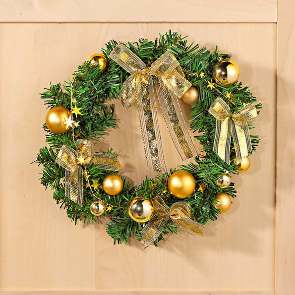 Weihnachtskranz gold