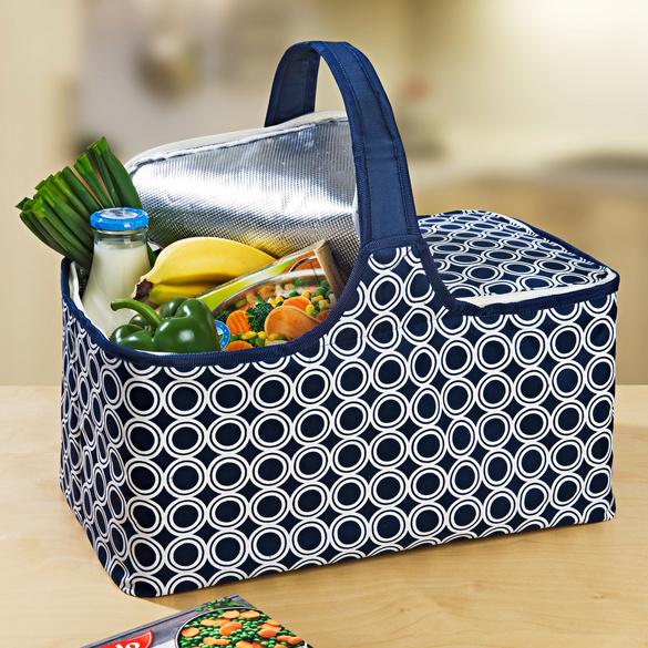 Thermo-Einkaufstasche blau