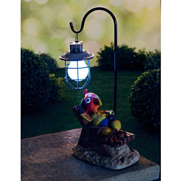 Solar-Laterne mit Papagei