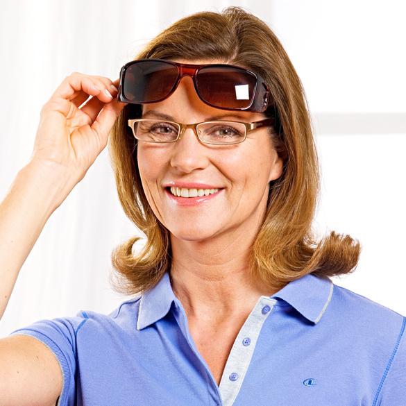 Auto-Sonnenbrille braun