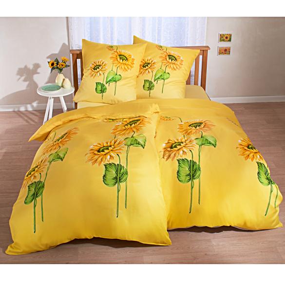 """Bettwäsche """"Sonnenblumen"""", 3-tlg."""