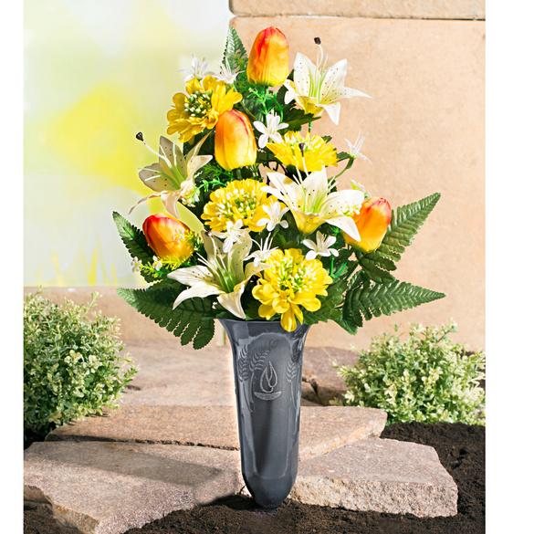 "Grabstrauß ""Lilien & Tulpen"""