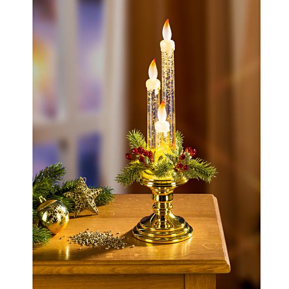 LED-Kerzenleuchter goldfarben