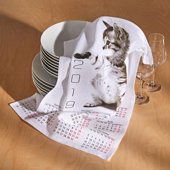 """Geschirrtücher """"Katzenkalender"""""""