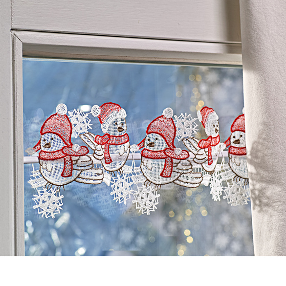 """Textilhänger """"Wintervögel"""""""