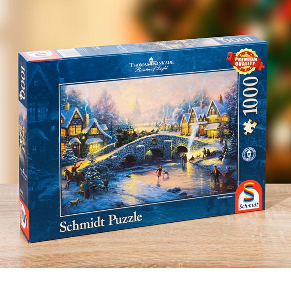 """Künstler-Puzzle """"Winter im Dorf"""""""