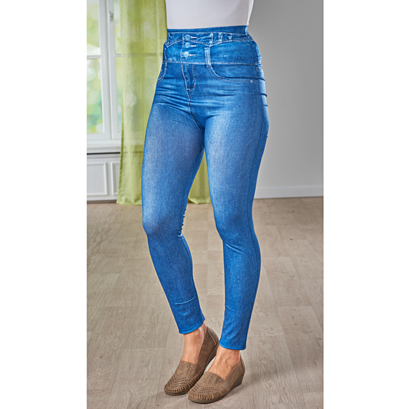 Slim-Jeggings jeans-blau