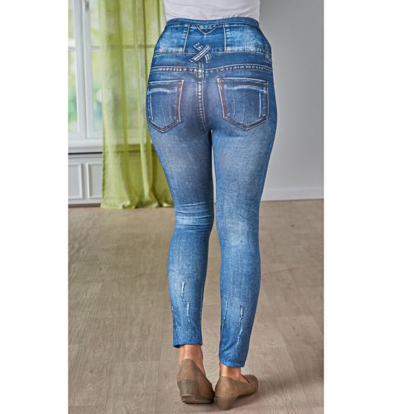 Slim-Jeggings jeans-dunkelblau used