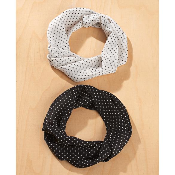 Magnetschals schwarz + weiß, 2 Teile