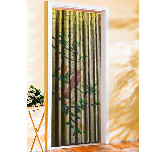 """Türvorhang """"Vogel auf Blütenzweigen"""""""