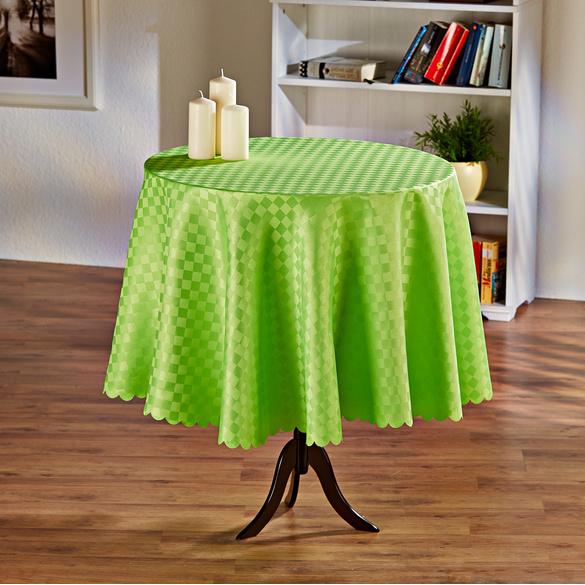 """Tischdecke """"Karo"""" grün Ø 160 cm"""