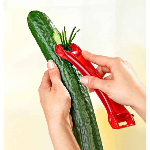 Gemüseschneider 2-in-1 rot
