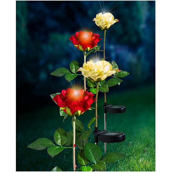 """Solarleuchte """"Rose"""" rot"""