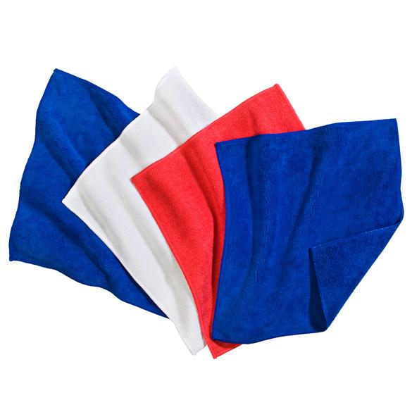 Mikrofaser-Tücher rot/blau/weiß, 4er-Set