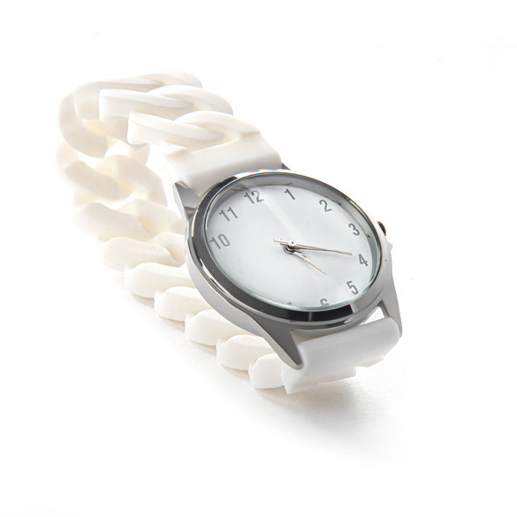 Stretch-Armbanduhr weiß