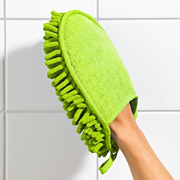 Mikrofaser-Handschuh 2-in-1 grün