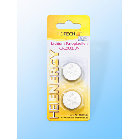 2 Lithium-Knopfzellen 210 mAh