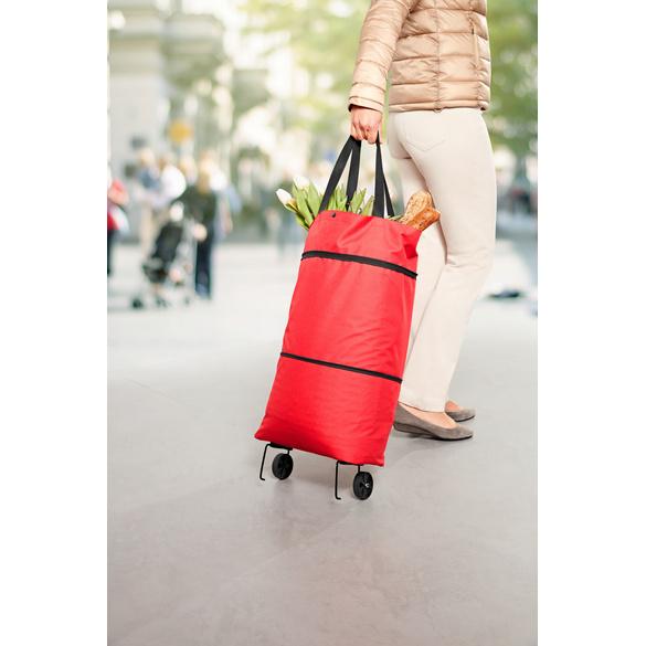 Einkaufstrolley 2 in 1 rot