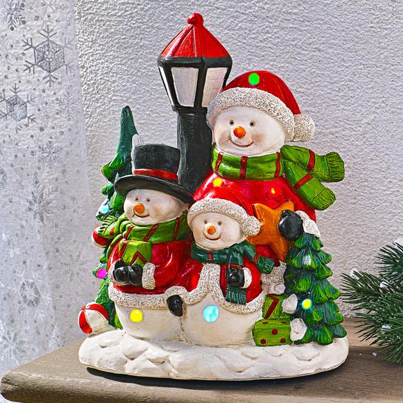 LED-Schneemannfamilie mit Musik